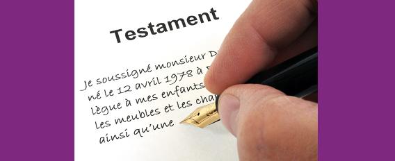 Organiser sa succession : pensez à rédiger votre testament !
